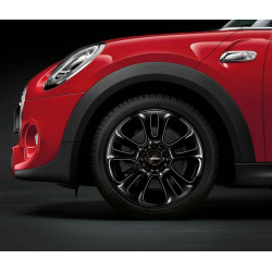 """17"""" JCW RAYONS DOUBLES 510, NOIRES"""